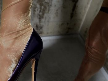 Splashed on the nylon stockings and staggered around