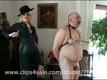 Cash slave of Russian Amazon, tortured by Bitchtress,