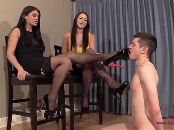 ALEXIS and JADE - Vicious Girls Humiliate Small Male
