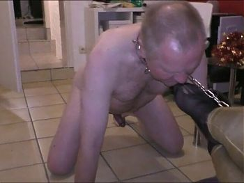 me licking the feet of my mistress