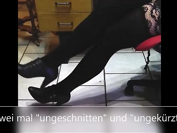feet-queen - slave cum on nylons two times