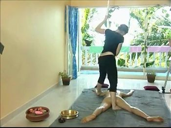 Kalari marma massage with feet
