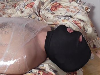 foot gagging domination by princess smiley for wrapped slave