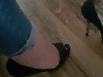 Meine getragen high heels