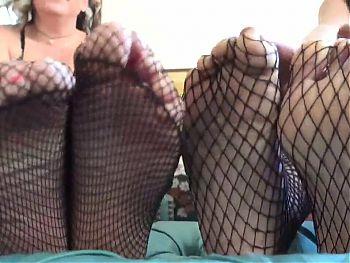 Fishnets Feet Fetish with Viva Athena and Bikini Thug